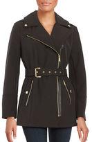 MICHAEL Michael Kors Belted Asymmetric Zip-Up Coat