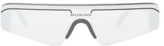 Balenciaga Mirrored Square-frame Acetate Sunglasses - Black Silver