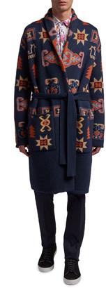 Etro Men's Carpet Knit Long Cardigan Sweater