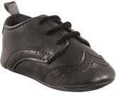 Luvable Friends Black Dress Shoe - Infant