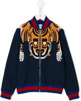 Gucci Kids - tiger knit jacket - kids - Cotton - 5 yrs