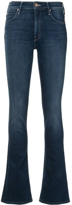 Mother Mid-Rise Straight Jeans