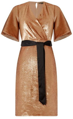 Biba Sequin Wrap Dress