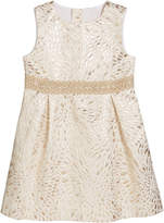 Lilly Pulitzer Girl's Abrianna Metallic Jacquard Dress, Size 2-14