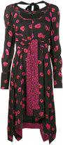 Proenza Schouler Floral print long sleeve dress - women - Silk/Viscose - 2