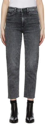 Rag & Bone Black Nina High-Rise Jeans