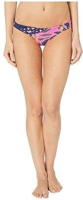 Maaji Alana Sun Ray Reversible Signature Coverage Bikini Bottoms (Hibiscus Pink Floral) Women's Swimwear