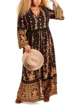 Band of Gypsies Trendy Plus Size Printed Maxi Dress
