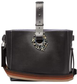 Ganni Smooth-leather Tote Bag - Womens - Black