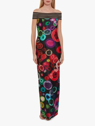 Gina Bacconi Manisha Maxi Dress, Black/Multi