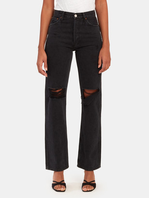 RE/DONE High Rise Loose Straight Leg Jeans