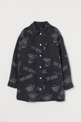 H&M Oversized Denim Jacket - Gray