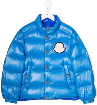 Moncler Enfant Logo Patch Padded Jacket
