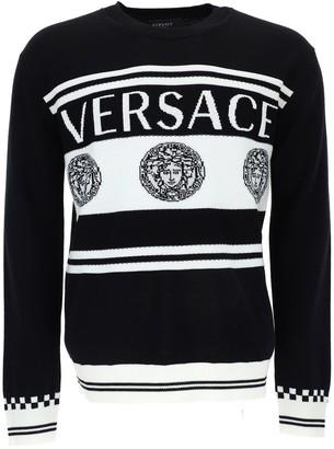 Versace Medusa Logo Knit Sweater