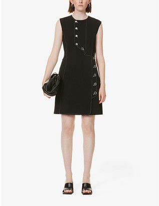 Sportmax Aloe button-embellished crepe midi dress