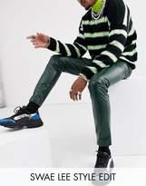Asos Design ASOS DESIGN skinny coated leather look jeans in green