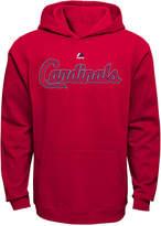 Majestic Kids' St. Louis Cardinals Wordmark Fleece Hoodie, Big Boys (8-20)