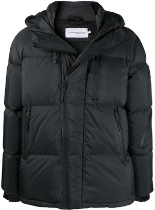 Calvin Klein Jeans Hooded Feather-Down Puffer Coat