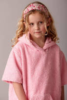 kemp & co Girl's Towelling Robe With Liberty Trim