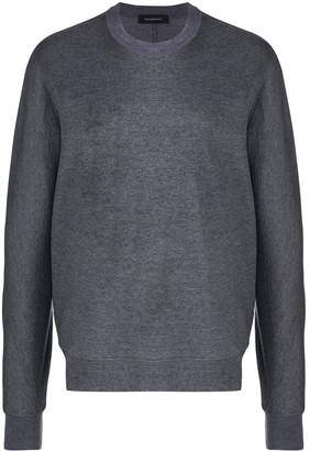 Ermenegildo Zegna Panelled-Sleeves Cotton Sweatshirt