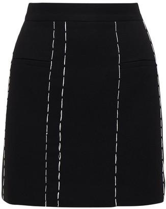 Rokh Tailored Mini Skirt W/Contrast Stitching