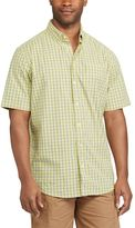 Chaps Men's Classic-Fit Checked Stretch Poplin Button-Down Shirt