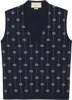 Gucci interlocking G stripe vest