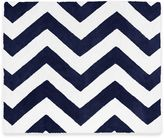 Sweet Jojo Designs Chevron Floor Rug in Navy/White