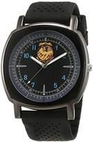 Trias Men's Quartz Watch with Black Dial Analogue Display Quartz Rubber TR – 28