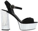Dolce & Gabbana Bellucci Buckled Mirror Platform Sandals