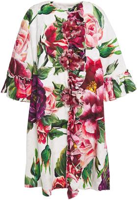 Dolce & Gabbana Embellished Cotton-blend Floral-jacquard Coat