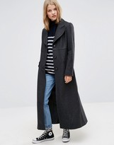 Asos Fitted Maxi Coat in Wool Blend