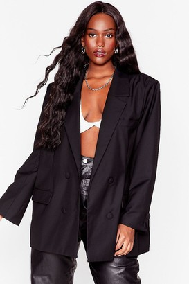 Nasty Gal Womens Not Our Business Plus Oversized Blazer - Black