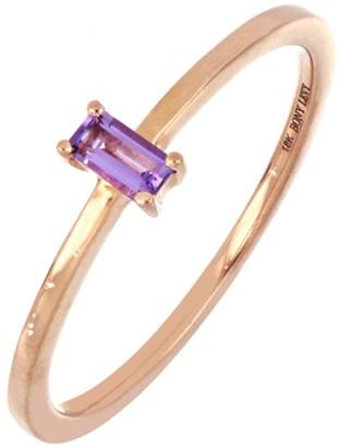 Bony Levy 18K Rose Gold Amethyst Baguette Ring