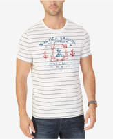 Nautica Men's Sailing Supplies Stripe Logo-Print T-Shirt