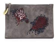 A.L.C. Floral Leather Pouch