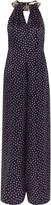 Matthew Williamson Embellished polka-dot silk-chiffon jumpsuit
