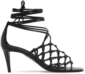 Stella McCartney 70mm Wrap Around Cotton Sandals
