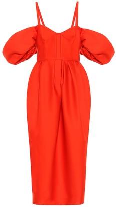 Rosie Assoulin Off-the-shoulder cotton dress