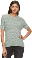 JLO by Jennifer Lopez Women's Lurex Boucle Crewneck Sweater