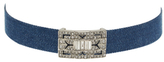 Kenneth Jay Lane Denim Deco Choker