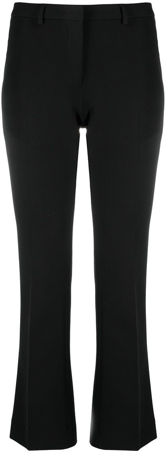 Pt01 Cropped Flared Tailored Trousers