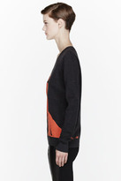McQ by Alexander McQueen Orange Angry Eagle Sweater