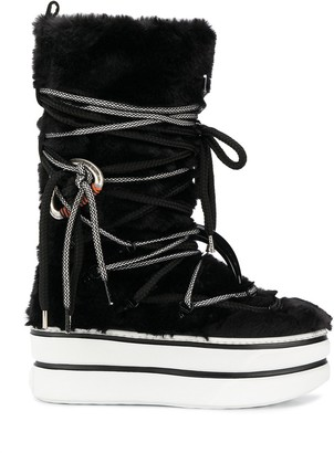 Hogan Faux Fur Snow Boots