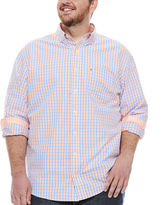 Izod Essential Poplin Button-Front Shirt-Big & Tall
