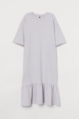 H&M Flounce-hem T-shirt dress