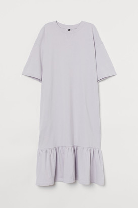 H&M Ruffle-hem T-shirt Dress - Purple