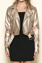 Solemio Sole Mio Rose-Gold Leather Jacket
