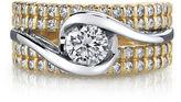 Sirena MODERN BRIDE 1\ CT. T.W. Diamond 14K Two-Tone Gold Bridal Ring