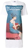 Prada Longline Lion House T-shirt dress